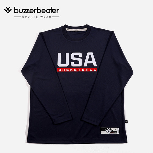 USA TEXT LONG TEE (N)