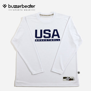 USA TEXT LONG TEE (W)